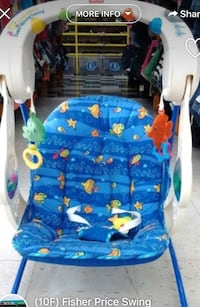 Blue and white fisher-price bouncer seat Toronto, M9W 3X1
