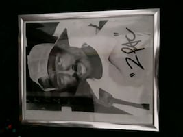 authentic autographed photo 2pac