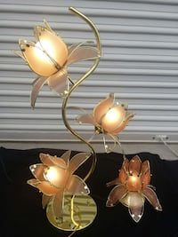 2 pcs. Decorative Peach blossom flower desk lamps  Fairfax
