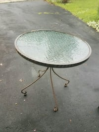 Outdoor glass table Chantilly, 20151