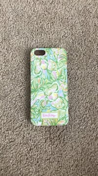 green and pink floral iPhone case