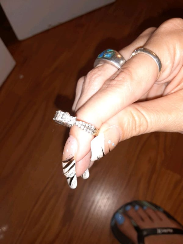 Past present future engagement ring size 5  bought eight months ago 88cb27fc-a348-4d2d-8810-c81c032b6926