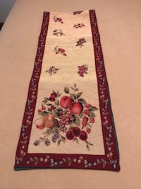"Holiday Fruit Table Runner  13"" x 72"" High Springs, 32643"