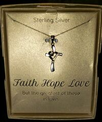 Sterling silver faith hope love necklace  Centreville, 20120