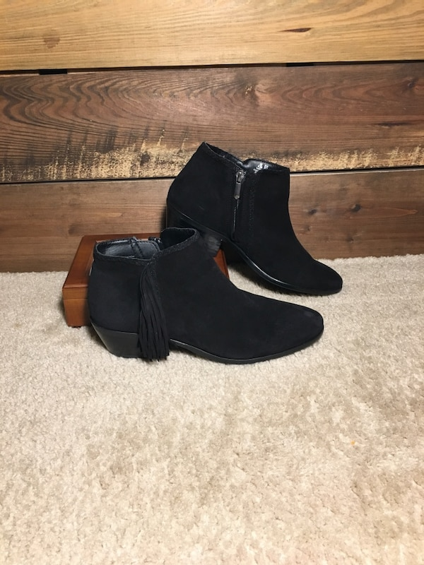 7ab236b84 Used Sam Edelman Paige Black Suede Booties for sale in Bedford - letgo