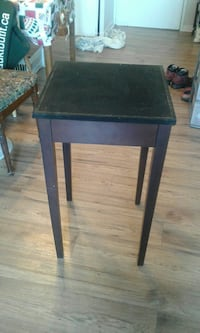 Tall Solid Wood Table with Suede Top