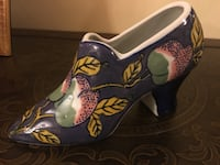 """Porcelain Hand-Painted Shoe—Larger In size (6.5"""" from heel to toe & 4.5"""" tall) Norman, 73071"""