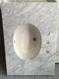 Marble with white ceramic sink