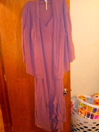 Size 24W pink dress with cover Blanchard, 73010