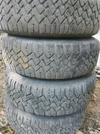 four black rubber car tires Monmouth, 97361