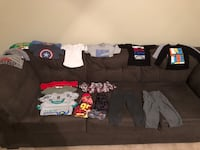 24 mth-3T boys clothes in great shape. Also not pictures is a set of Old Navy dress shoes and a pair of 3T blue jeans