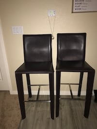 Bar height brown leather stools LIKE NEW OBO! Fort Collins, 80525