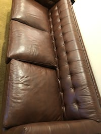 Synthetic Brown Leather Sofa/ Couch  Mc Lean, 22102