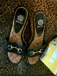New pair of brown-and-black sandals Foley, 36535