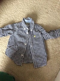 black and white plaid button up dress shirt Woodbridge, 22191