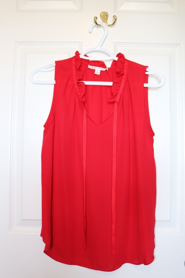 Red Dress Shirt- size small, EUC, from winners