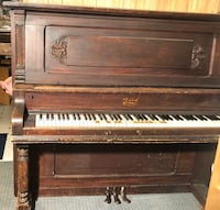 Free victorian antique York stand up piano