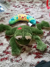 green frog plush and baby neck pillow Alexandria, 22306