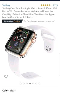Clear case for Apple iWatch