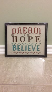 Frame dream hope believe new Mission, 78572