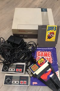 NES Console Nintendo Mario 3 & Game Genie all cables included WORKING  Las Vegas, 89147