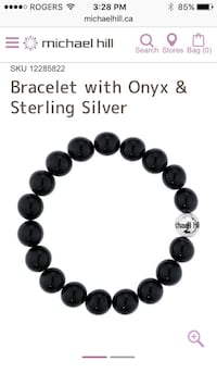 Onyx and silver Michael Hill bracelet Mississauga, L5J 3M9