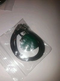 black leather necklace with pack