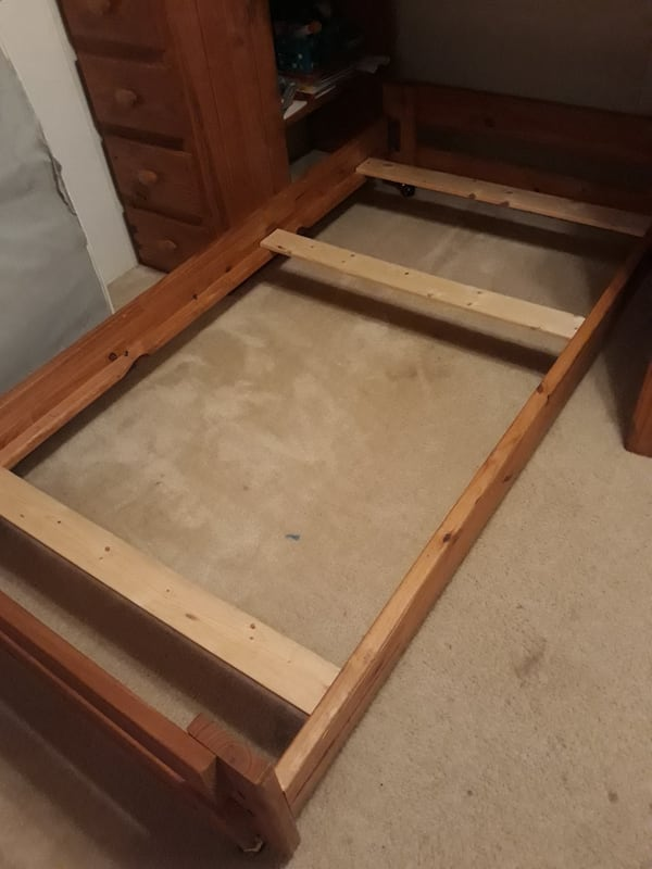 Twin bed frame solid wood  0