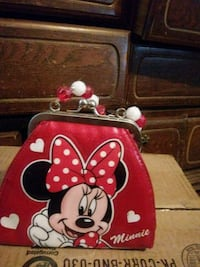 red and white Minnie Mouse backpack Byron, 31008