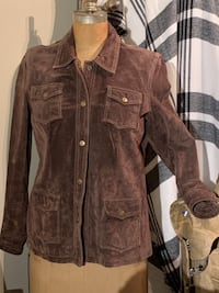 Brown Genuine suede jacket size M Wilmot, N3A