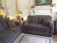 Clean and comfortable couch and love seat set-moving sale !  Won't fit in my moving truck. Lancaster, 93534