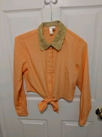 New Forever21 coral crop blouse  Toronto, M4W 1A9