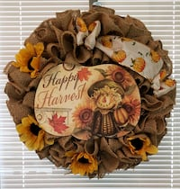 brown and red floral wreath Tomball, 77375