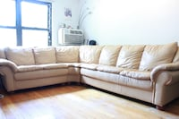 Leather Sectional Sofa BAYSIDE