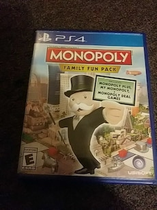 PS4 Monopoly Family Fun Pack game case