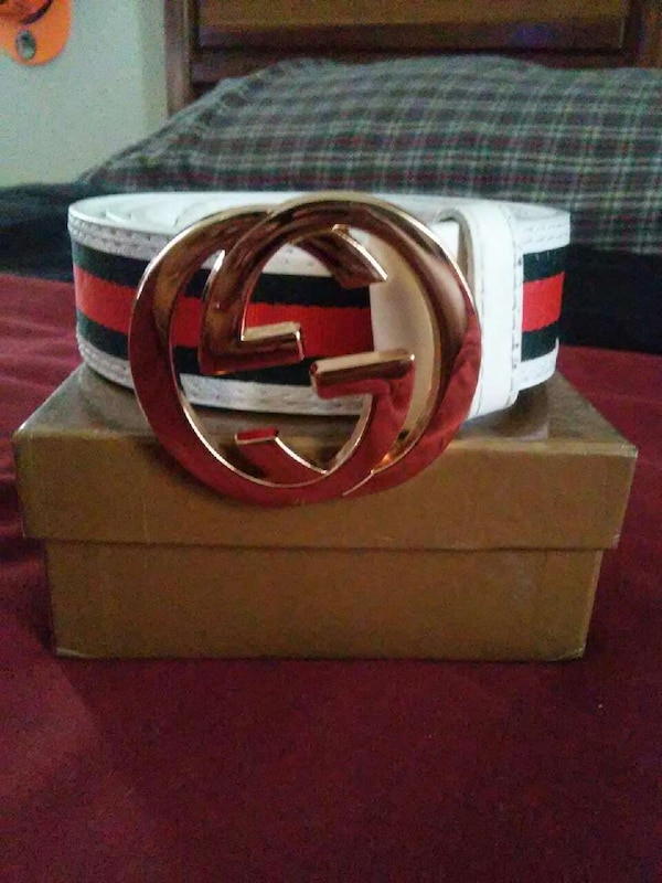 2c010875a Used white red and green gucci belt for sale in Chattanooga - letgo