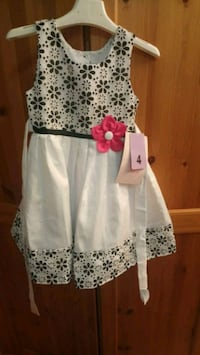 white and blue floral sleeveless dress Calgary, T1Y 2E4