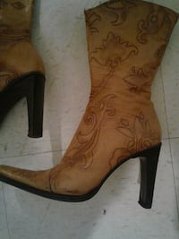 Size 8 brown leather cowboy boots Oklahoma City, 73114
