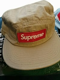 brown and red Supreme fitted cap Portland, 04102