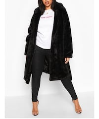 Black plus size faux fur coat Toronto, M1W 3C1
