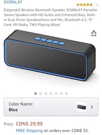 Brand New Wireless Bluetooth Speaker Toronto, M5V 3S8
