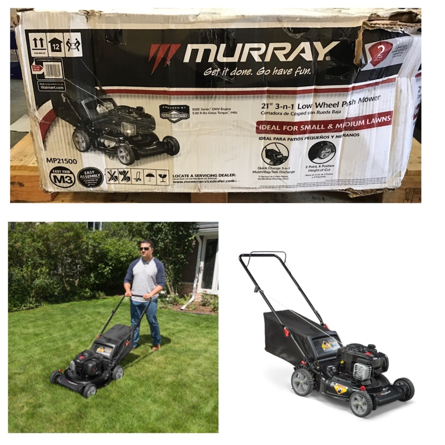 Photo Murray 21 Gas Push Lawn Mower with Briggs and Stratton Engine