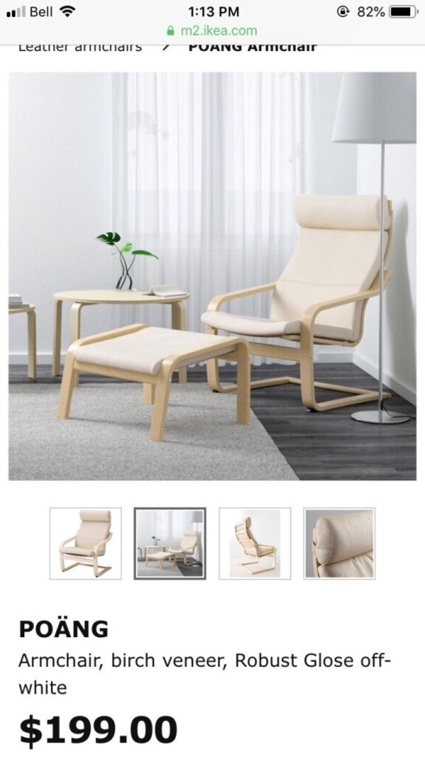 Swell Ikea Leather Chair And Footstool Machost Co Dining Chair Design Ideas Machostcouk
