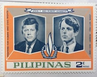JKF John F Kennedy vintage stamp collection set of three 1960. Collectibles Philippines. Unused. Perfect