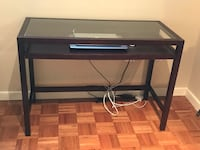 Desk-Mahogany wood and glass top  Chevy Chase, 20815