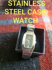 CASIO STAINLESS STEEL WATCH WATER RESISTANT