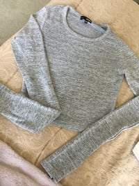 Grey Cropped long sleeve Shirt , XXS/XS Markham, L6B 0T4