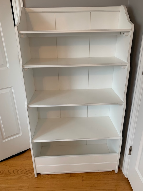 Used Bookshelf With Scallop Detail Solid Wood For Sale