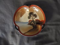 BEAUTIFUL HAND PAINTED BOWL NORITAKE MADE IN JAPAN 6 INCH GLASS BOWL null