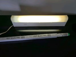 Under the counter light with extra bulb is free
